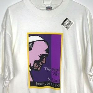 Vintage 90s Pope John Paul T-Shirt XL